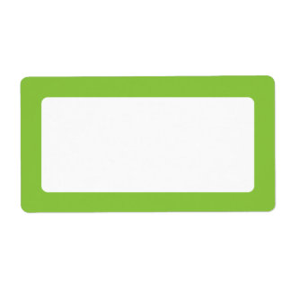 Spring green solid color border blank shipping label