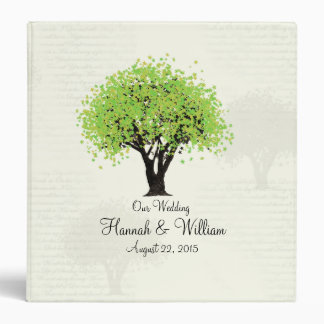 Spring Green Tree Dancing Blooms 3 Ring Binder