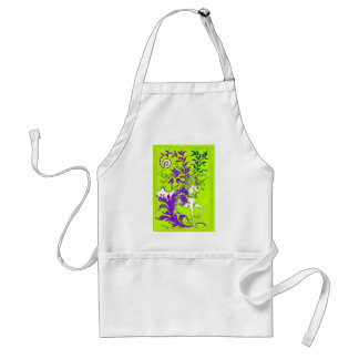 Spring Green Unicorn Wood Vine Gifts by sharles Adult Apron