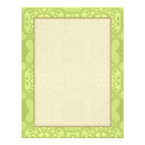 Spring Green Vintage Country Floral Pattern Flyer