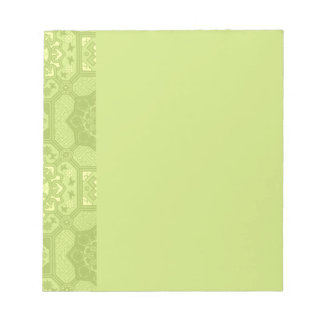 Spring Green Vintage Country Floral Pattern Memo Note Pads
