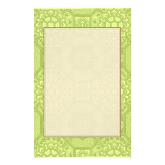 Spring Green Vintage Country Floral Pattern Stationery