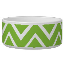 Spring green whimsical zigzag chevron pattern bowl