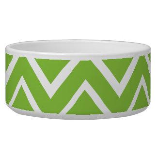 Spring green whimsical zigzag chevron pattern bowl