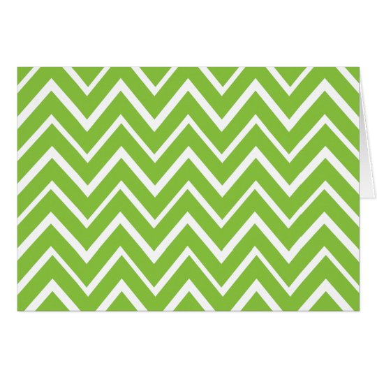 Spring green whimsical zigzag chevron pattern card