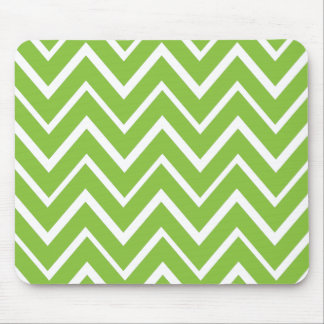 Spring green whimsical zigzag chevron pattern mouse pad