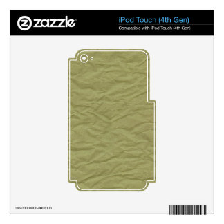 Spring Green Wrinkled Paper Texture iPod Touch 4G Skin