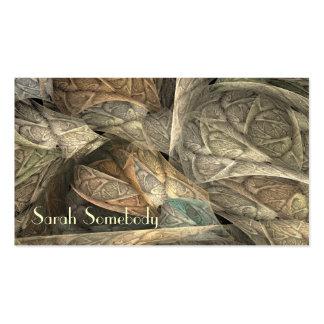 Spring Greens Fractal Profile Card Business Cards