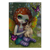 spring fairy, spring, fairy, bunny, bunnies, easter, faery, flower, jasmine, becket-griffith, artsprojekt, rabbit, flowers, redhead, four seasons, four, seasons, pop, gallery, butterflies, butterfly, spring faery, new contemporary, new, contemporary, art, big eye, big eyed, fairytale, becket, griffith, jasmine becket-griffith, beckett, jasmin, strangeling, artist, goth, gothic, Card with custom graphic design