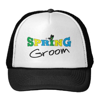 Spring Groom T-shirts and Gifts hat