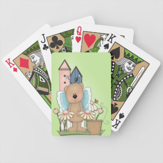 Spring Has Sprung, Adorable Butterfly Bear Bicycle Playing Cards