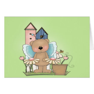 Spring Has Sprung, Adorable Butterfly Bear Greeting Card