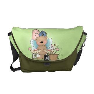 Spring Has Sprung, Adorable Butterfly Bear Messenger Bag