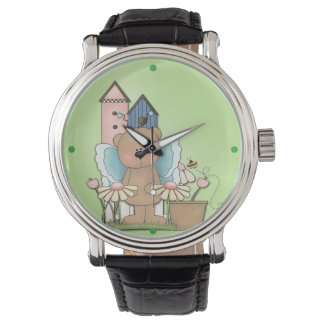 Spring Has Sprung, Adorable Butterfly Bear Wrist Watch