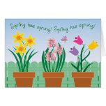 Spring has sprung! card