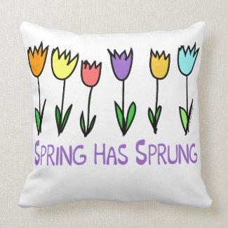 Spring has Sprung Throw Pillow