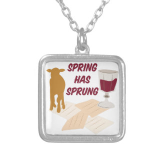 Spring Has Sprung Square Pendant Necklace