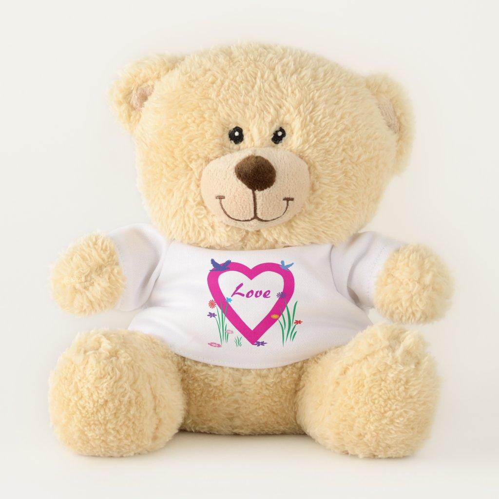 Spring Heart Love Valentine Teddy Bear