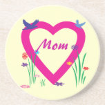 Spring Heart Mother's Day Drink Coaster