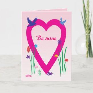 Spring Heart Valentine Card