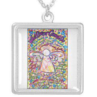 Spring Hearts Angel Cancer Cannot Necklace Jewelry