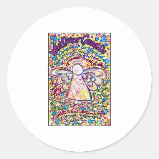 Spring Hearts Angel Classic Round Sticker