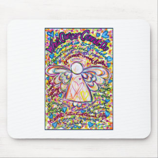 Spring Hearts Angel Mouse Pad