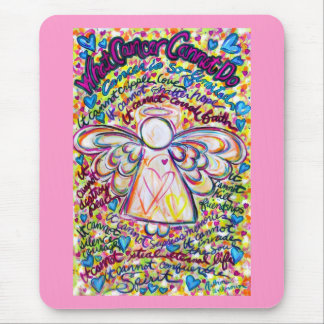 Spring Hearts Angel Mousepad