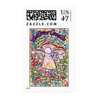 Spring Hearts Angel Stamp
