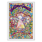 Spring Hearts Cancer Angel Card
