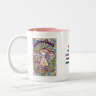 Spring Hearts Cancer Angel Mug