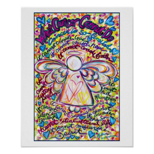 Spring Hearts Cancer Angel Print (White Edge)