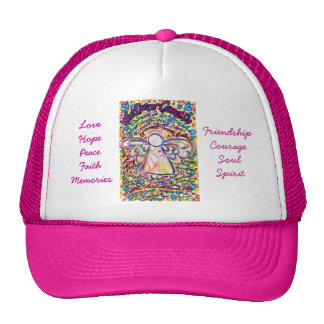 Spring Hearts Cancer Cannot Angel Hat or Cap