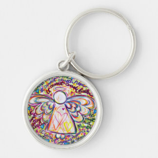 Spring Hearts Cancer Cannot Do Angel Keychain
