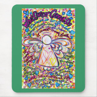 Spring Hearts Cancer Cannot Do Angel Mousepad