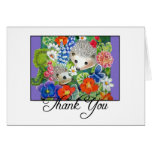 Spring Hedgehogs Thank You Notecard Cards