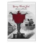 Spring Heeled Jack Devil London Vintage Art Greeting Card