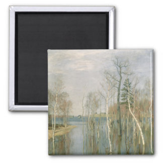 Spring, High Water, 1897 2 Inch Square Magnet