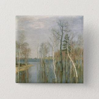 Spring, High Water, 1897 Pinback Button