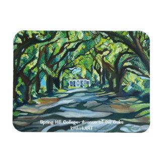 Spring Hill College- Avenue of the Oaks kmkirkART Rectangular Photo Magnet