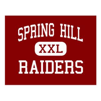 Spring Hill - Raiders - High - Columbia Tennessee Postcard