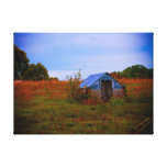 Spring House Stretched Canvas Print