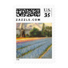 Spring Hyacinths Tulips Flowers Landscape Painting Postage