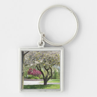 Spring in Bloom  square keychain