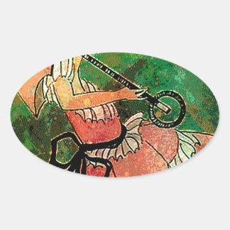 SPRING IN DECO.jpg Oval Sticker