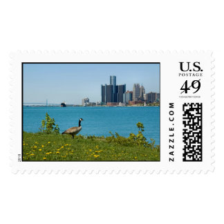 spring in detroit postage