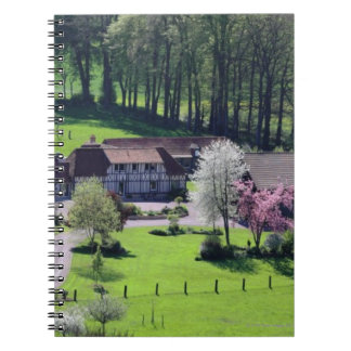 Spring in french countryside notebook