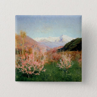 Spring in Italy, 1890 Button