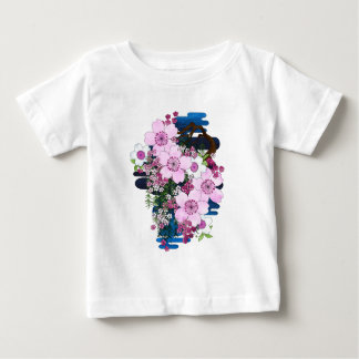 Spring in Japan - Cute and Girly Kimono Style Baby T-Shirt