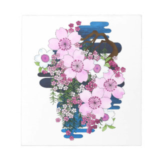 Spring in Japan - Cute Girly Kimono Style Notepads